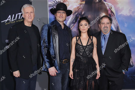James Cameron, Rosa Salazar, Robert Rodriguez and Jon Landau