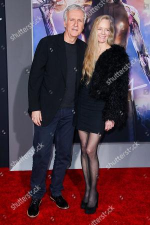 James Cameron and Suzy Amis
