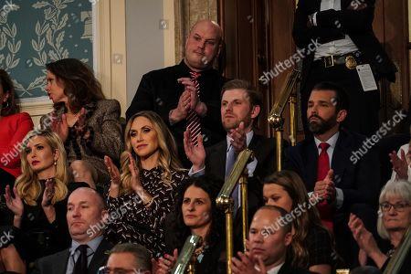 Ivanka Trump, Lara Yunaska Trump, Eric Trump, and Donald Trump Jnr. during the State of the Union address at the Capitol