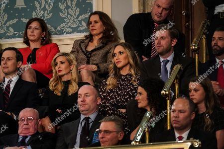 Jared Kushner, Ivanka Trump, Lara Yunaska Trump, Eric Trump, and Donald Trump Jnr. during the State of the Union address at the Capitol