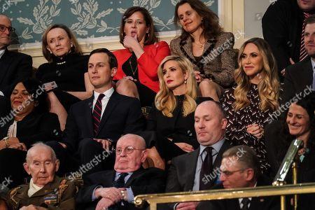Jared Kushner, Ivanka Trump, Lara Yunaska Trump, and Eric Trump during the State of the Union address at the Capitol