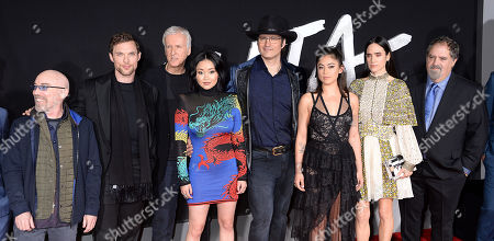 Jackie Earle Haley, Ed Skrein, James Cameron, Jennifer Connelly, Rosa Salazar, Lana Condor, Rob Rodriguez, Jon Landau,