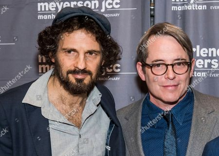 "Geza Rohrig, Matthew Broderick. Geza Rohrig, left, and Matthew Broderick attend a screening of ""To Dust"" at the Marlene Meyerson JCC Manhattan, in New York"