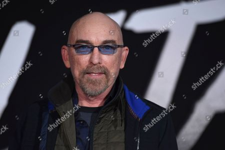 "Jackie Earle Haley arrives at the Los Angeles premiere of ""Alita: Battle Angel"" on"