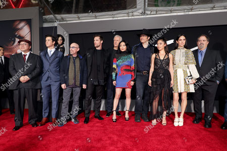 Yukito Kishiro, Author, Keean Johnson, Jackie Earle Haley, Ed Skrein, James Cameron, Writer/Producer, Lana Condor, Robert Rodriguez, Writer/Director, Rosa Salazar, Jennifer Connelly, Jon Landau, Producer,