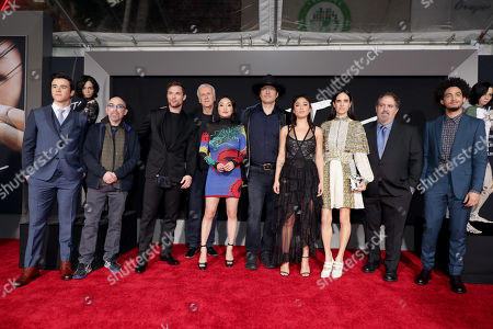 Keean Johnson, Jackie Earle Haley, Ed Skrein, James Cameron, Writer/Producer, Lana Condor, Robert Rodriguez, Writer/Director, Rosa Salazar, Jennifer Connelly, Jon Landau, Producer, Jorge Lendeborg Jr.