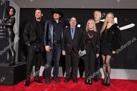 Ed Skrein, Robert Rodriguez, Writer/Director, Jon Landau, Producer, Julie Landau, James Cameron, Writer/Producer, Suzy Amis