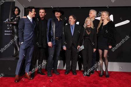 Keean Johnson, Ed Skrein, Robert Rodriguez, Writer/Director, Jon Landau, Producer, Julie Landau, James Cameron, Writer/Producer, Suzy Amis