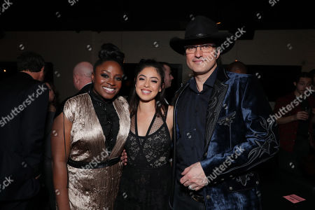 Stock Picture of Idara Victor, Rosa Salazar, Robert Rodriguez, Writer/Director,