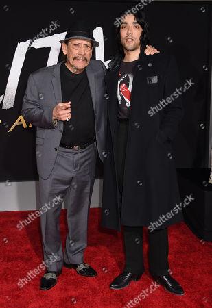 Stock Picture of Danny Trejo and son Gilbert Trejo
