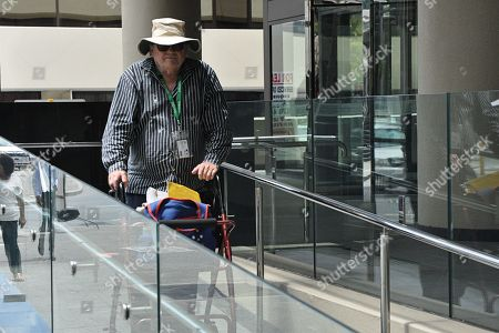 Former private school teacher, 70-year-old Peter James Samuels, is seen outside the Perth Magistrates Court in Perth, Australia, 06 February 2019. Samuels appeared briefly in court on child sex offences, allegedly committed against a 15-year-old boy in 1975, and will next face court on 13 March.
