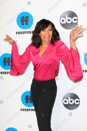Wendy Raquel Robinson arrives for the Disney and ABC Television 2019 TCA Winter press tour at The Langham Huntington Hotel and Spa in Pasadena, California, USA, 05 February 2019.