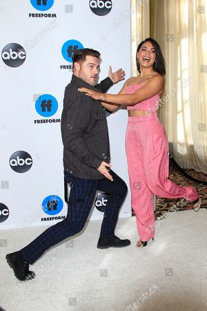Grey Damon (L) and Barrett Doss arrive for the Disney and ABC Television 2019 TCA Winter press tour at The Langham Huntington Hotel and Spa in Pasadena, California, USA, 05 February 2019.