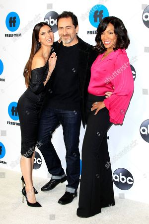 Roselyn Sanchez, Demian Bichir and Wendy Raquel Robinson arrive for the Disney and ABC Television 2019 TCA Winter press tour at The Langham Huntington Hotel and Spa in Pasadena, California, USA, 05 February 2019.