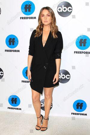 Camilla Luddington arrives for the Disney and ABC Television 2019 TCA Winter press tour at The Langham Huntington Hotel and Spa in Pasadena, California, USA, 05 February 2019.