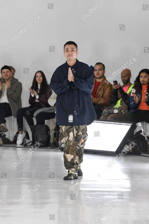 Editorial image of N. Hoolywood show, Runway, Fall Winter 2019, New York Fashion Week Men's, USA - 05 Feb 2019