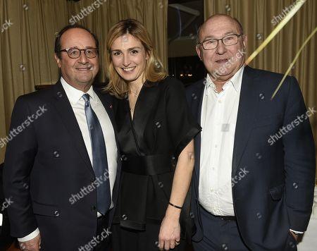 Stock Image of Francois Hollande, Julie Gayet, Michel Sapin