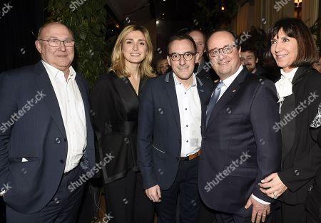 Stock Picture of Michel Sapin, Julie Gayet, Felicien Brut, Francois Hollande