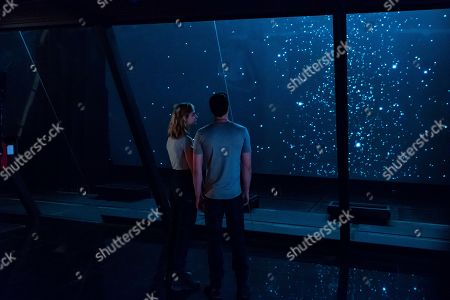 Nora Arnezeder as Evelyn Rey and Wil Coba as Max Taylor