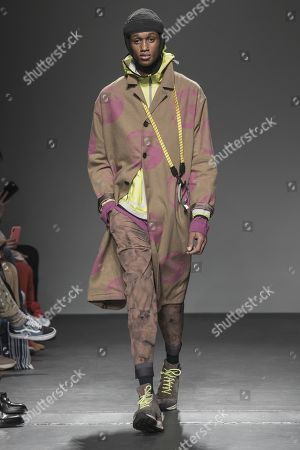 Editorial photo of Robert Geller show, Runway, Fall Winter 2019, New York Fashion Week Men's, USA - 05 Feb 2019