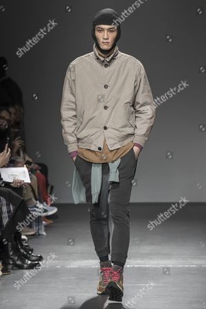 Editorial image of Robert Geller show, Runway, Fall Winter 2019, New York Fashion Week Men's, USA - 05 Feb 2019