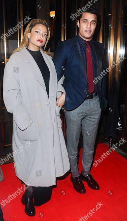 Klara Vernier and Staz Nair attend the Ray Burmiston fundraising exhibition, The Athenaeum Hotel