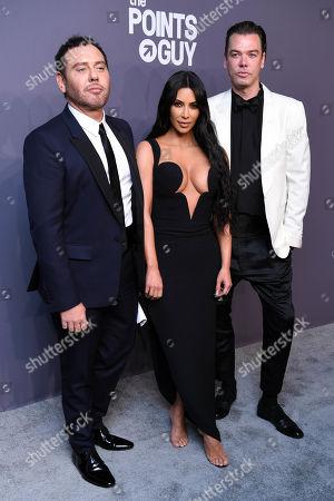 Mert Alas, Kim Kardashian West and Marcus Piggott