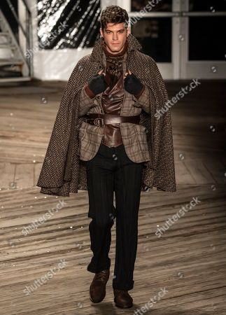 Editorial photo of Joseph Abboud show, Runway, Fall Winter 2019, New York Fashion Week Men's, USA - 04 Feb 2019
