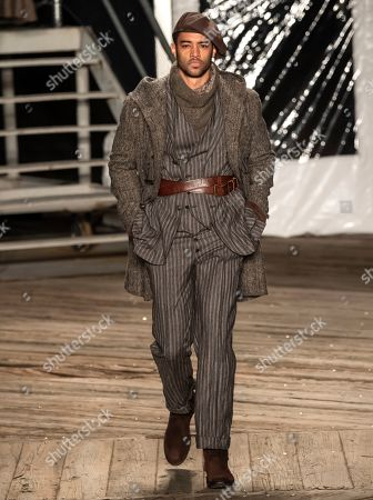 Editorial picture of Joseph Abboud show, Runway, Fall Winter 2019, New York Fashion Week Men's, USA - 04 Feb 2019