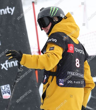 James Woods from Britain, who finished in first place waves to the crowd after a run in the men's Ski Slopestyle at Park City Mountain Resort for the FIS World Championships in Park City, Utah, USA, 06 February 2019.