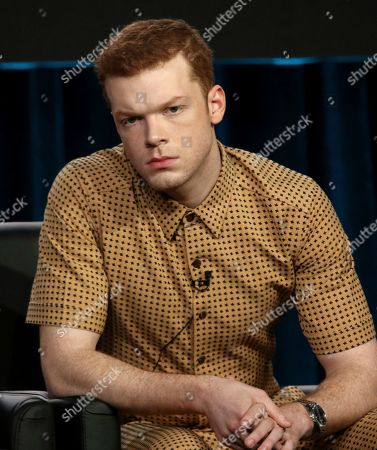 """Cameron Monaghan participates in the """"Gotham"""" panel during the FOX presentation at the Television Critics Association Winter Press Tour at The Langham Huntington, in Pasadena, Calif"""
