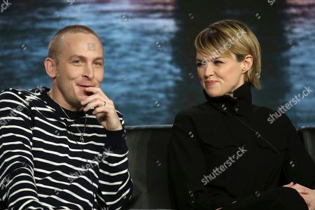 """Stock Picture of Robyn Lord Taylor of Warwick, Erin Richards. Robyn Lord Taylor of Warwick, left, and Erin Richards participate in the """"Gotham"""" panel during the FOX presentation at the Television Critics Association Winter Press Tour at The Langham Huntington, in Pasadena, Calif"""