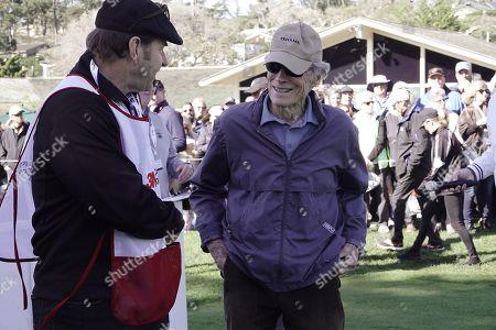 Clint Eastwood and Nick Faldo