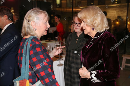 """Camilla Duchess of Cornwall and Gemma Jones attend a reception to launch the """"Glorious Grandparents"""" initiative at Unicorn Theatre"""