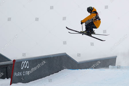 James Woods of Britain competes in the Men's Ski Slopestyle at Park City Mountain for the FIS World Championships in Park City, Utah, USA, 06 February 2019.