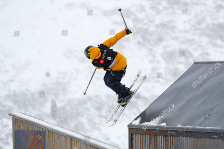 James Woods of Great Britain competes in the Men's Ski Slopestyle at Park City Mountain for the FIS World Championships in Park City, Utah, USA, 06 February 2019.