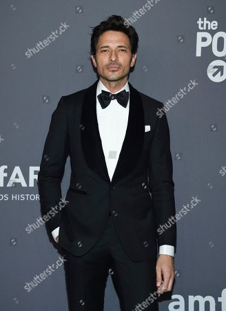 Andres Velencoso Segura attends the amfAR Gala New York AIDS research benefit at Cipriani Wall Street, in New York