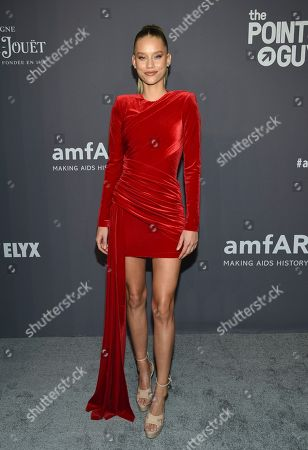 Chase Carter attends the amfAR Gala New York AIDS research benefit at Cipriani Wall Street, in New York