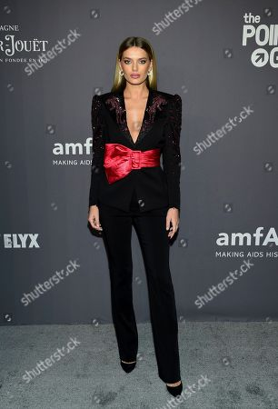 Bregje Heinen attends the amfAR Gala New York AIDS research benefit at Cipriani Wall Street, in New York