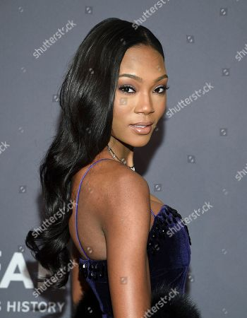 Afiya Bennett attends the amfAR Gala New York AIDS research benefit at Cipriani Wall Street, in New York