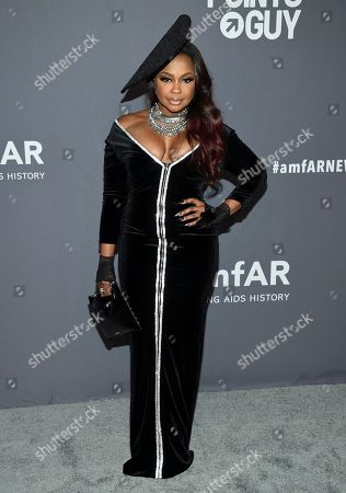 Phaedra Parks attends the amfAR Gala New York AIDS research benefit at Cipriani Wall Street, in New York