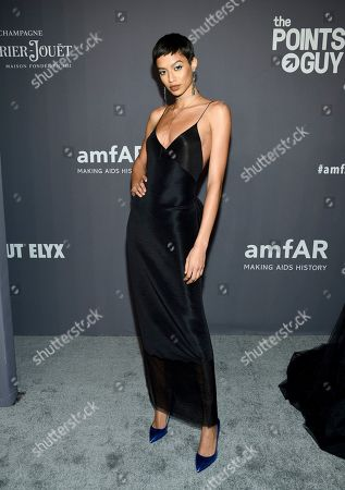 Jourdana Phillips attends the amfAR Gala New York AIDS research benefit at Cipriani Wall Street, in New York