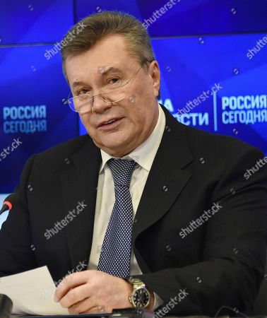 Editorial photo of Former Ukrainian President Viktor Yanukovich attends press conference in Moscow, Russian Federation - 06 Feb 2019