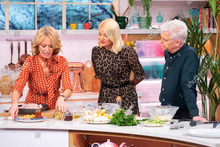 Phillip Schofield and Holly Willoughby with Clodagh McKenna