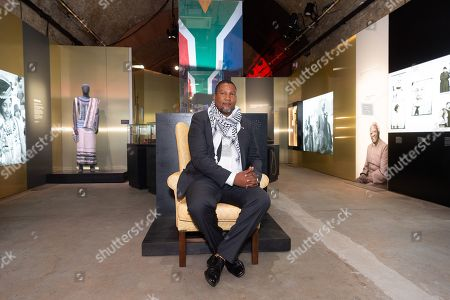 Mandla Mandela, the grandson of Nelson Mandela attends a photocall to launch Mandela:The Exhibition takes visitors on a personal journey through the life of the world's most iconic freedom fighter and political leader.