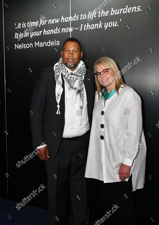 Stock Photo of Nkosi Mandla Mandela, Zelda La Grange