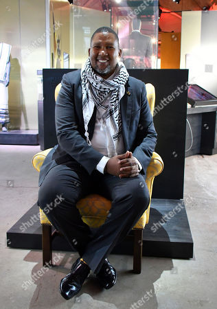 Stock Image of Nkosi Mandla Mandela and Nelson Mandela's yellow armchair,