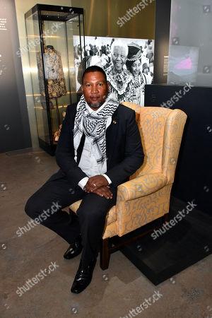 Nkosi Mandla Mandela and Nelson Mandela's yellow armchair,