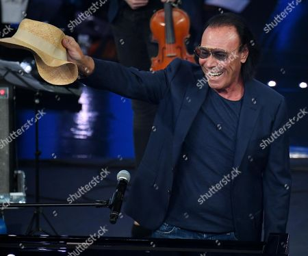Antonello Venditti performs on stage at the Ariston theatre during the 69th Sanremo Italian Song Festival, Sanremo, Italy, 07 February 2019. The festival runs from 05 to 09 February.