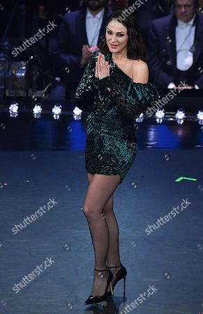 Anna Tatangelo performs on stage at the Ariston theatre during the 69th Sanremo Italian Song Festival, Sanremo, Italy, 07 February 2019. The festival runs from 05 to 09 February.